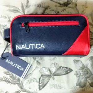 NAUTICA | Men's Double Zippered Travel Case Red